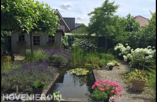 Natuurlijke tuin met vijver 1